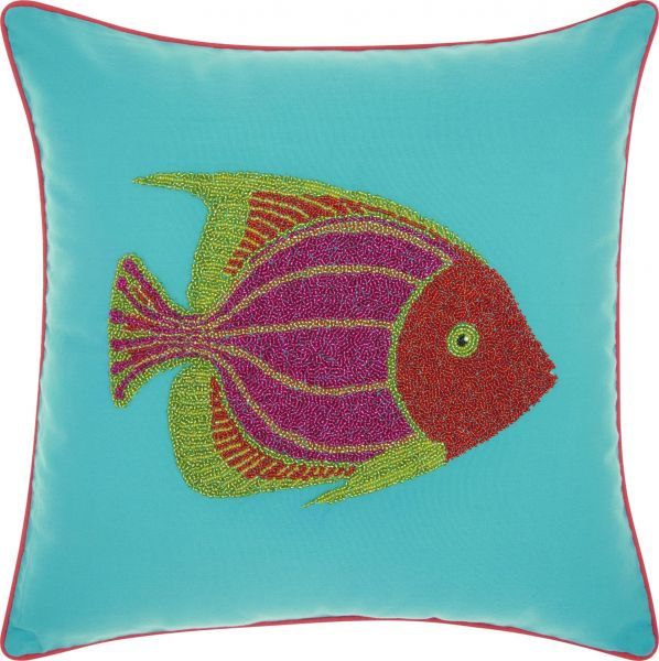 Souq Mina Victory By Nourison Outdoor Beaded Fish Decorative Throw Adorable Nourison Decorative Pillows