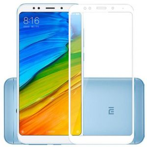 Clear Tempered Glass Screen Protector with White Frame For Xiaomi_Redmi Note 5A Prime