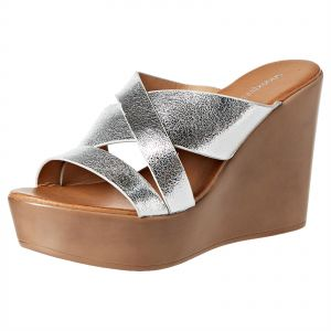 aaa21fa84 Shoexpress TANSY Wedge Sandals for Women - Silver