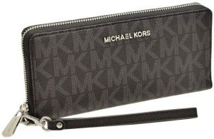 42349d6e2527 Michael Kors 35H7STVT3B Jet Set Travel CONTINENTAL Wristlet Wallet Black