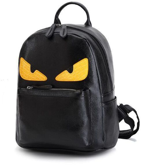 89a75b5bafe4 Brand Designer Genuine Leather Men And Women Backpack Perfect Small Monster School  Bag Laptop Bag For Youth