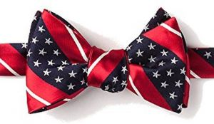775b09fdfbc8 Mens American Flag Freedom Stars & Stripes Self Tie Butterfly Bow Tie