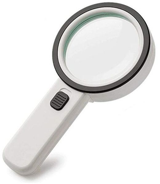 Extra Large Handheld Strong Magnifying Glass With 12 Led And Uv Light 30x Best Jumbo Size Illuminated Magnifier For Reading Inspection Hobbies Macular