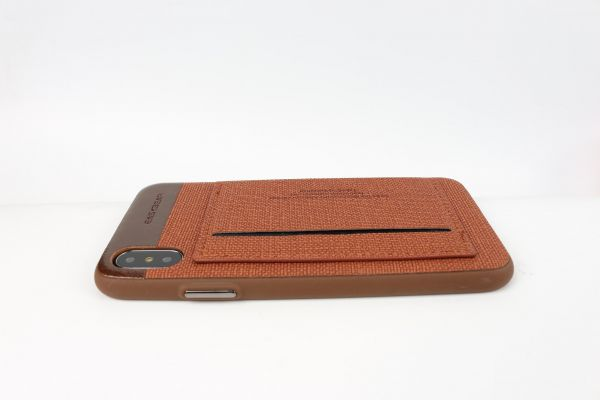 Iphone X Leather fashion business Card Holder wallet slim cover unique  shell anti fall shockproof cover