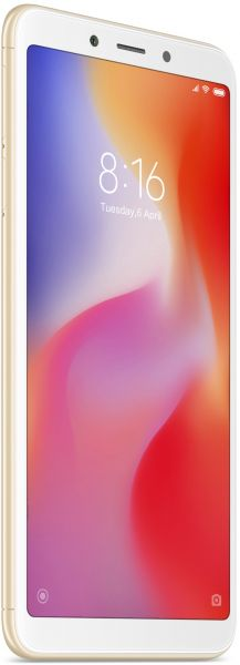 Xiaomi Redmi 6 Dual SIM - 64GB, 4GB RAM, 4G LTE, Gold - International Version