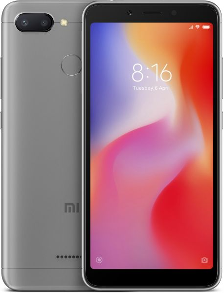 Xiaomi Redmi 6 Dual SIM - 64GB, 4GB RAM, 4G LTE, Grey - International Version