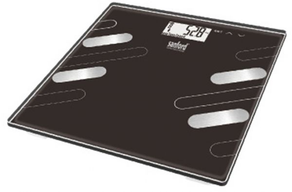 Sanford SF1525FPS Body Fat Monitor Personal Scale, Black