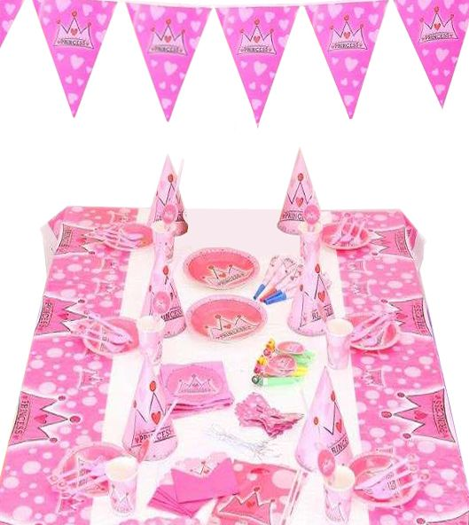ab5a4e25409 Princess Birthday Party Decoration 16 Items 90 Pieces Party Supplies for  Girl