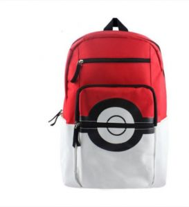 76541553243d Unisex s Poke Ball Backpack Fashion Colorblock Large Capacity All Match Bag