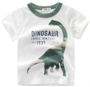8d3758a1d Boys' Short Sleeve T-Shirt Dinosaur Pattern Polo Dress for Children 120cm