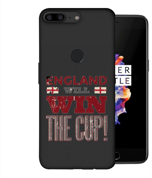 ColorKing Football England 06 Brown shell case cover for OnePlus 5T