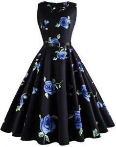 02334cf5e30 Summer Fashion Retro Hepburn Style Printed Dress (with BELT) - Size L