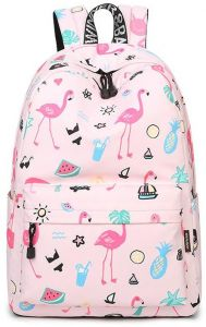 b0e89dce2a71 Designer Brand Women Fresh Sweet 3D Flamingo Pattern Shoulder Bag Backpack  School Student Rucksack Women Girls All-match Canvas Travel Laptop Bags