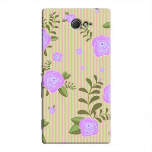 Cover It Up - Rose Large Flower Stripes Sony Xperia M2 Hard Case