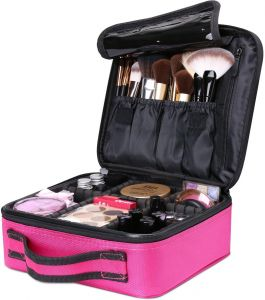 Makeup Cosmetic Storage Case, Professional Make up Train Case Cosmetic Box Portable Travel Artist Storage Bag Brushes Bag Toiletry Organizer Tool with ...
