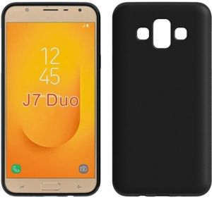 516039d9e37 Samsung Galaxy J7 Duo TPU Silicone Back Case Cover - Black By Muzz