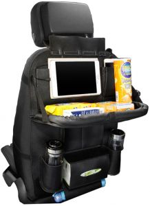 8520b2ac5d Car Backseat Organizer Auto Back Seat Organizer with Table Tray with 3  Charging Line ( Black )