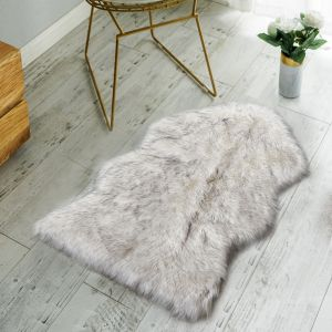 7e19922a10e60 Nordmiex Non Skid Backing Faux Fur Sheepskin Rug-Deluxe Soft Faux Sheepskin  Chair Cover