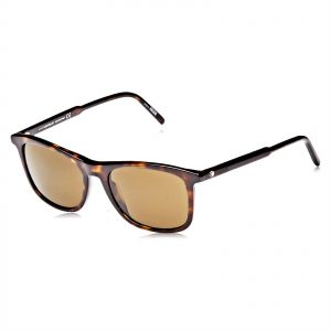5b7afae3694 Mont Blanc Square Sunglasses for Men - Brown Lens