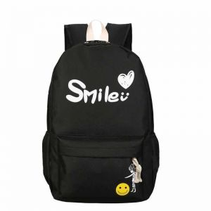 Fashion Smile Women Lady Leisure Backpack School Bags For Girl black color be7a099fdd16c