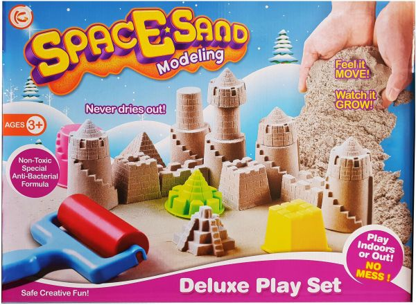 Space Sand With Colors Modeling Deluxe Play Set Kids Toy Clay Mold Castle Model Childrens Indoor