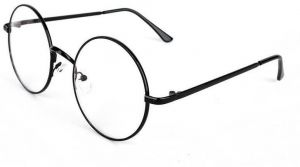 a293f0eac1 Vintage Round Full Metal Prince sunglasses Retro Clear Lens Nerd Unisex  Frames Glasses
