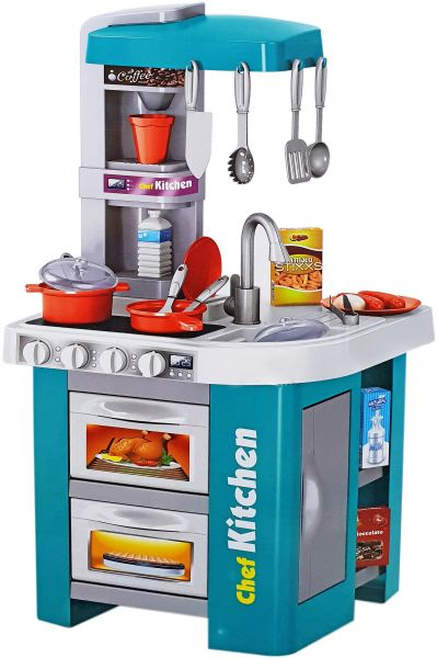 Talented Chef Kitchen Set Role Play Sink With Running Water Stove Fire Light And Sound Playset Souq Uae