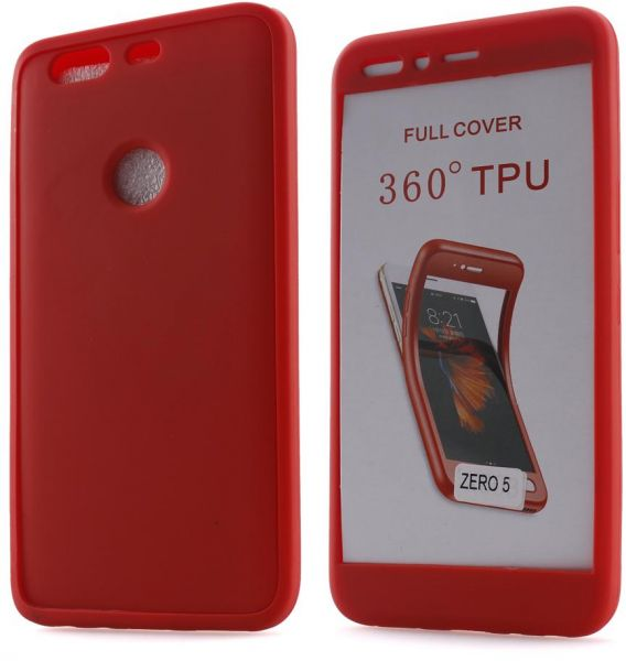 outlet store 11ff1 8fdb8 Infinix Zero 5 & Zero 5 Pro Soft TPU Silicone 360 Full Body Cover case - Red