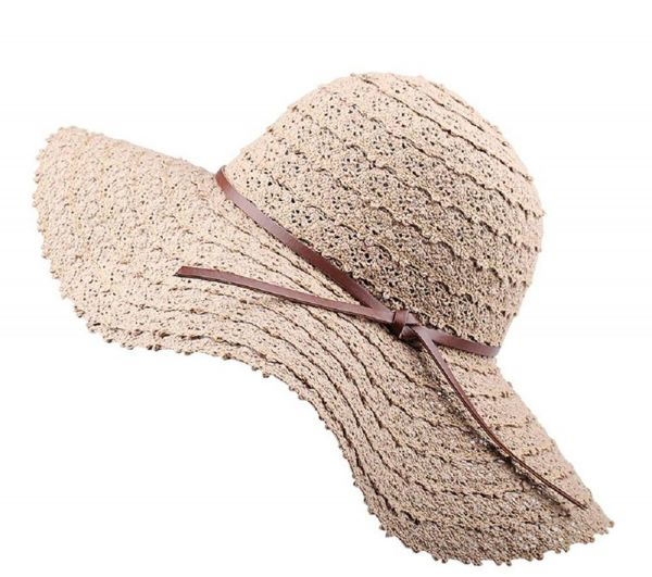Summer Beach Sun Hats For Women Foldable Floppy Travel Packable UV Hat  Cotton Wide Brim Fashion Hat 9b76cb3ea22b