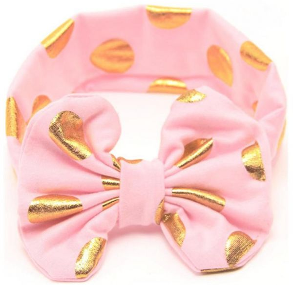 1165cb919b3 Girls Dot Bowknot Print Floral Headbands Newborn Infant Hair Accessories  Children Elastic Hair Bands Baby Headwear
