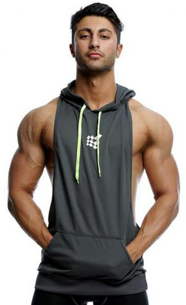b942f2b8532f5 Mens Gym Stringer Tank Top Bodybuilding Athletic Workout Muscle Fitness  Vest Gray L