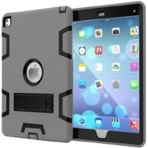 Anti Finger Print Mixed Protective Shell/Skin Shockproof Heavy Duty Hard Case Cover with Kick-stand For Apple iPad Mini 4 7.9 Inch Grey and Black (AWDSALES)