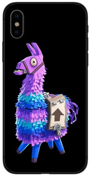 reputable site 7c153 0cab4 Battle Royale Fortnite Llama Soft Silicone Black iPhone X Case Cover ...