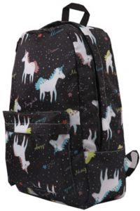 Waterproof Canvas Unicorn Animal Printing Women Men School Backpack 14-15.6  inch Travel Laptop Bagpack Blue kawaii Bookbag for Girls and Boys Outdoor  and ... aaa5861d7fd0e