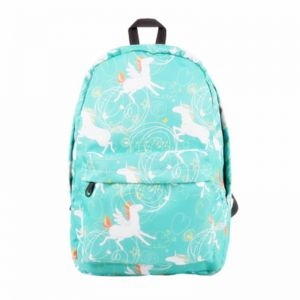 3d939cd421d2 Waterproof Canvas Unicorn Animal Printing Women Men School Backpack 14-15.6  inch Travel Laptop Bagpack Blue kawaii Bookbag for Girls and Boys Outdoor  and ...
