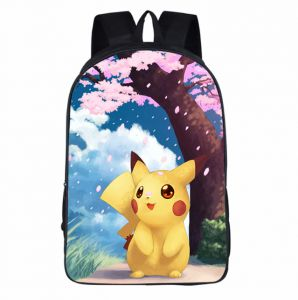 cedd19af0155 Kids School Backpack Pokemon Pikachu Middle School Primary School Bag For  Children Student Bookbag Cartoon Rucksack-ev