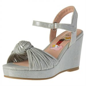 c1e8eb1842fb7 Elle Wedge Sandals for Girls - Silver