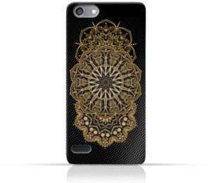 AMC Design Vintage Mandala 1301 Printed Case for Oppo Neo 7 - Black & Yellow