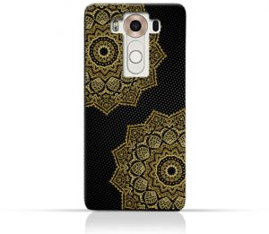 AMC Design Vintage Mandala 1201 Printed Case for LG V10 - Black & Yellow