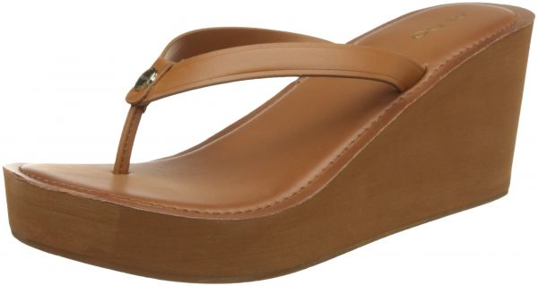 Aldo Wedge Sandals for Women - Cognac