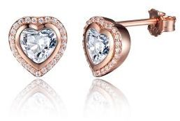 Romantic Ear Studs 925 Sterling Silver Rose Gold Plated Fashion Women Jewelry