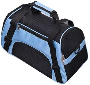 e3ffae24a4 Portable Pet Carrier Bag Handcrafted Travel Dog Cat Carry Bag Folding  Breathable Cages  Blue
