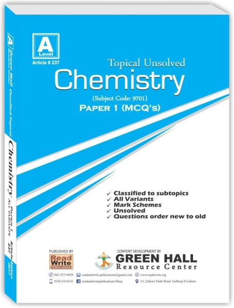 Chemistry CIE A level Paper 1 Topical Past Exam Papers | KSA