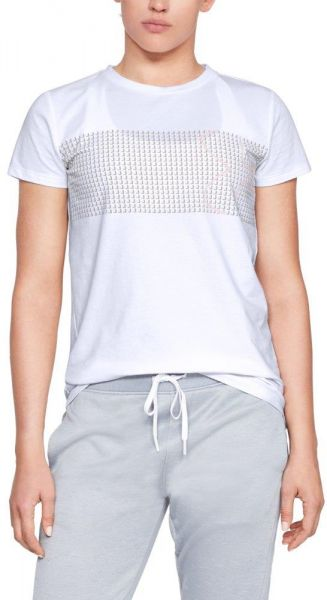 ecc7d410365 Under Armour Graphic Classic Crew Chest Logo T-Shirt For Women. by Under  Armour