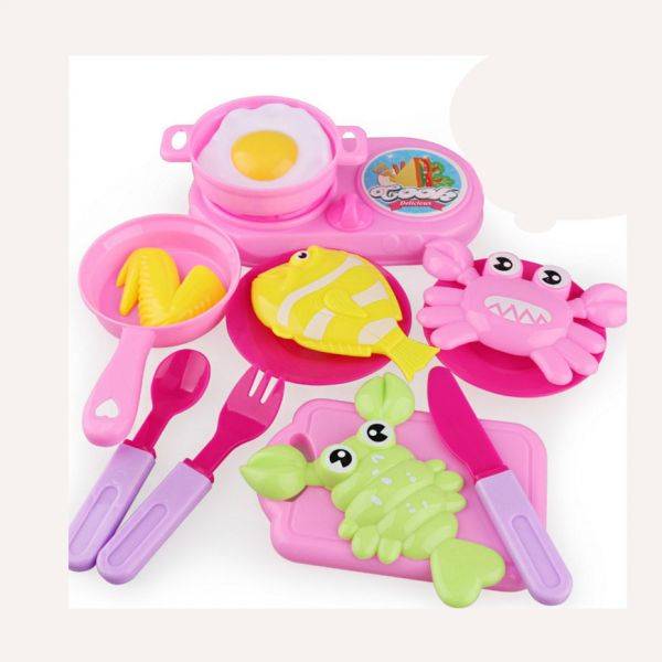 Birthday Gift Kids Pretend Role Play Kitchen Fruit Vegetable Food