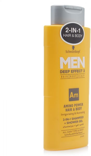 Schwarzkopf Men Deep Effect 2 In 1 Shampoo Shower Gel 250 Ml