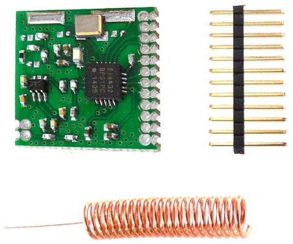 Mini SI4432 Wireless Transceiver Communication Module 1000m With Spring  Aerial