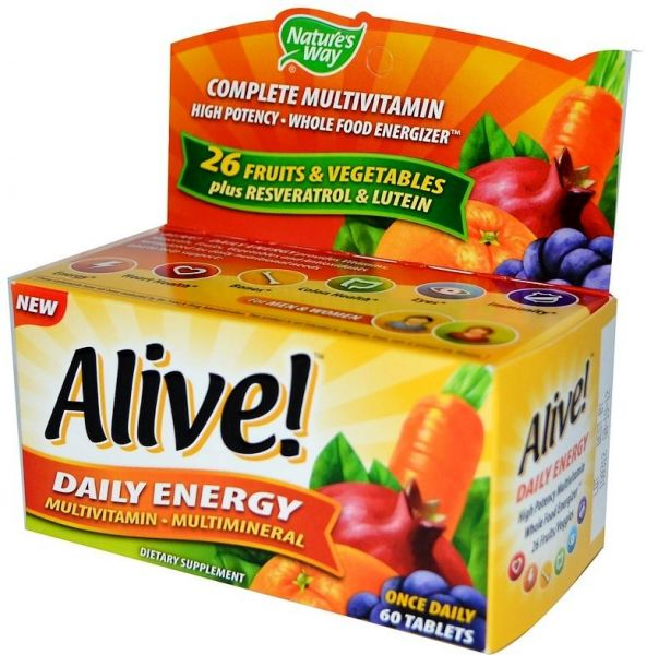 Nature S Way Alive Daily Energy 60 Tablets Souq Uae