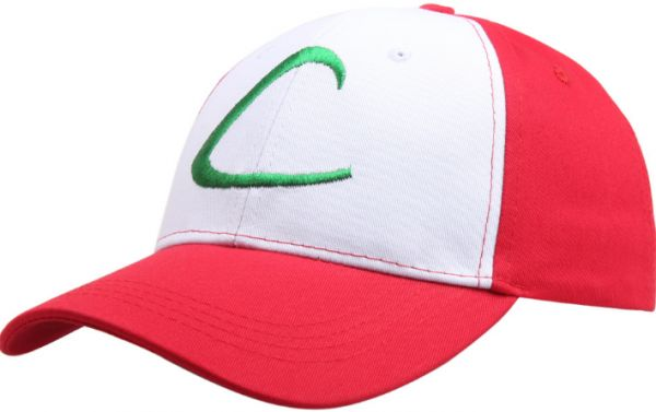 a91dc224a3c Red   White Anime Pokemon Hat Ash Ketchum Hat For Unisex