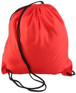 Swimming Drawstring Backpack Canvas Beach Travel Sport Gym Shoulder Bags Red 501227590a3d